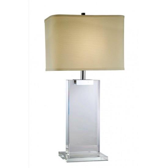 Elegant Lighting Regina Collection Table Lamp L: 16 W: 8 H: 30 Lt: 1 Chrome Finish