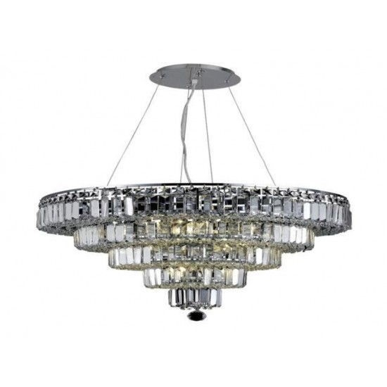 Elegant Lighting Maxime 14 Light Chrome Chandelier Clear Spectra Swarovski Crystal