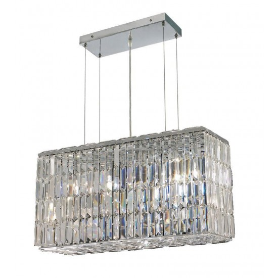 Elegant Lighting Maxime 8 Light Chrome Chandelier Clear Royal Cut Crystal