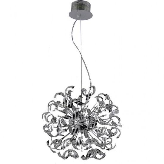 Elegant Lighting Tiffany 25 Light Chrome Chandelier Clear Elegant Cut Crystal