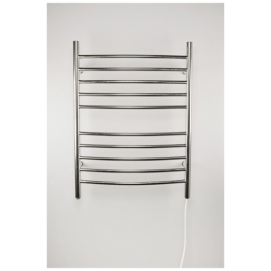 Radiant Plug-in Curved Heated Towel Rack