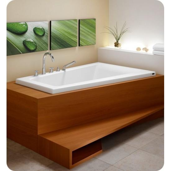 "Neptune BO66 Bora 66"" Customizable Corner Bathroom Tub"