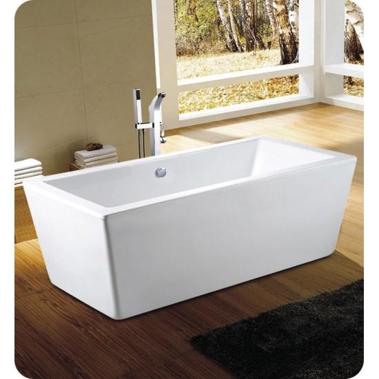 "Neptune AZ3266RS Amaze 66"" Freestanding Rectangular Bathroom Tub"
