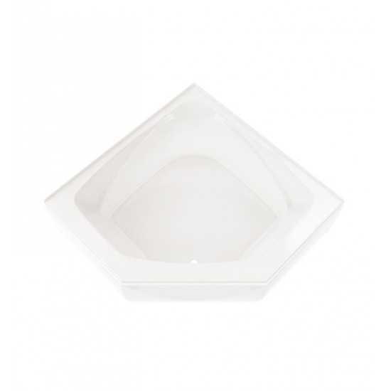 "Neptune E10.16654.0500 Entrepreneur Edora 54"" x 54"" Alcove Customizable Soaker Bathtub with Integrated Tiling Flange"