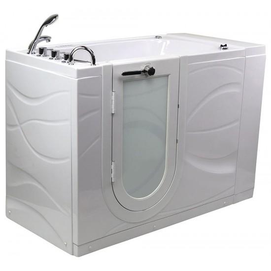 """Hydro Massage,Microbubble,Walk-In Bathtub,Left Outward Swing Door,2""""Dual Drain"""