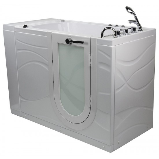 "SoakingHeated Seat Walk-In Bathtub,Right Outward Swing Door, 2"" Dual Drain"