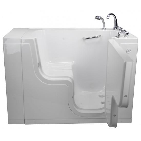 """Soaking Walk-In Bathtub,Right Outward Swing Door, 2"""" Dual Drain"""
