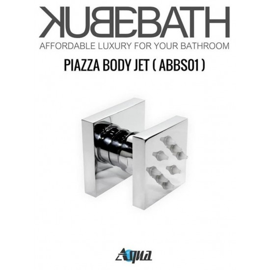 """Brass Shower Set With 12"""" Square Rain Shower, Handheld and 4 Body Jets"""