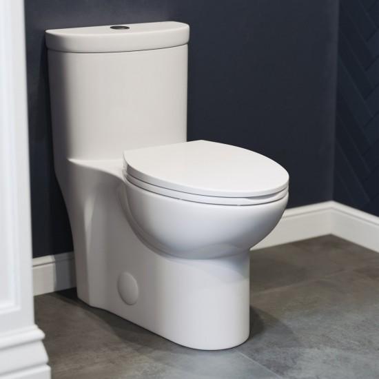 Sublime One Piece Elongated Toilet Dual Flush 0.8/1.28 gpf