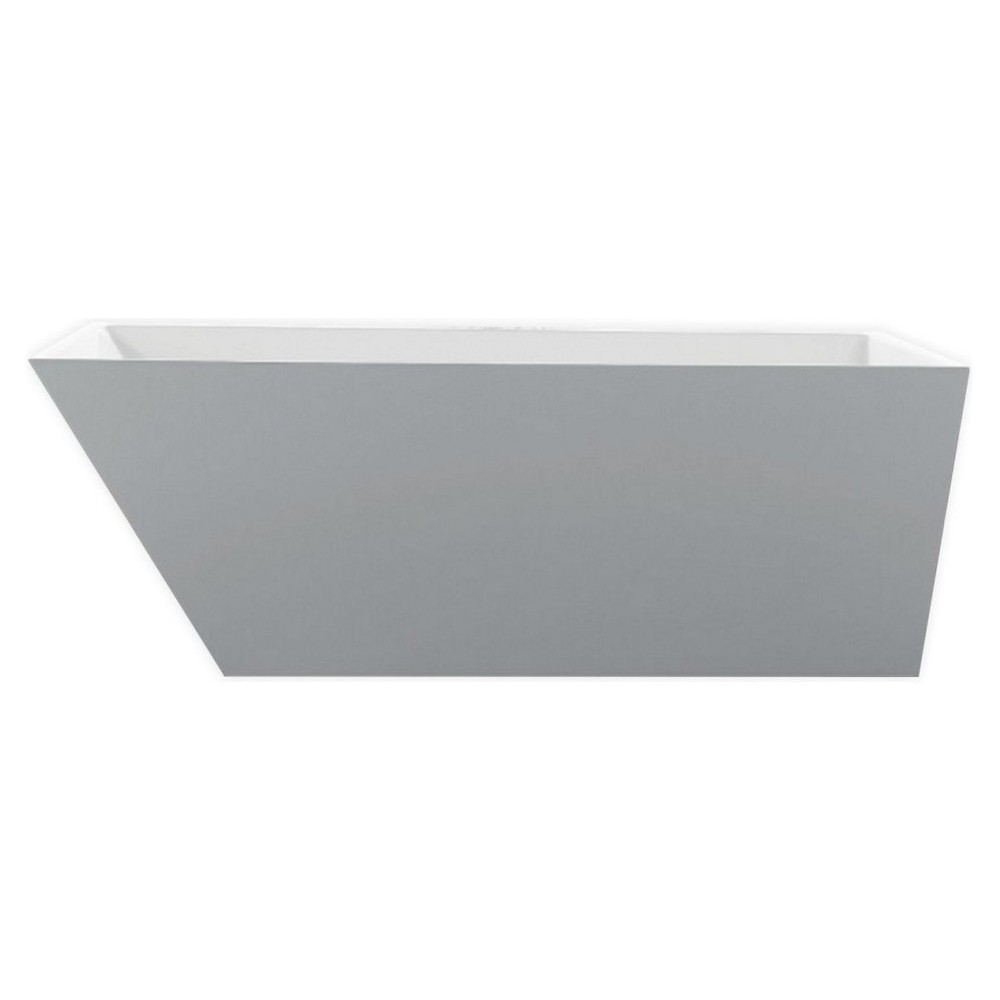 Kube Obliquo 67'' White Free Standing Bathtub
