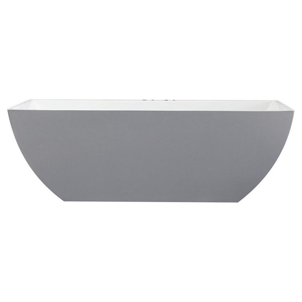 Kube Contemporanea 59'' White Free Standing Bathtub