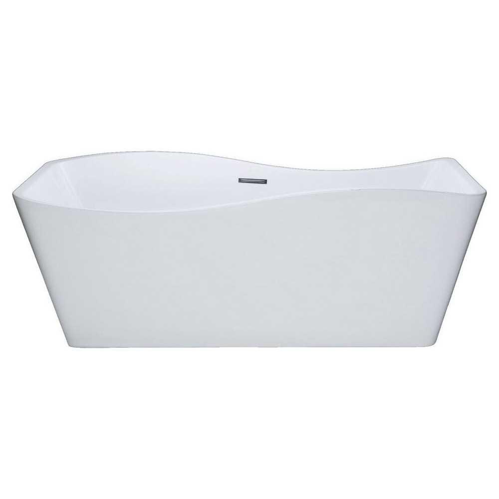 """Kube Ondulato 59"""" Free Standing Bathtub"""