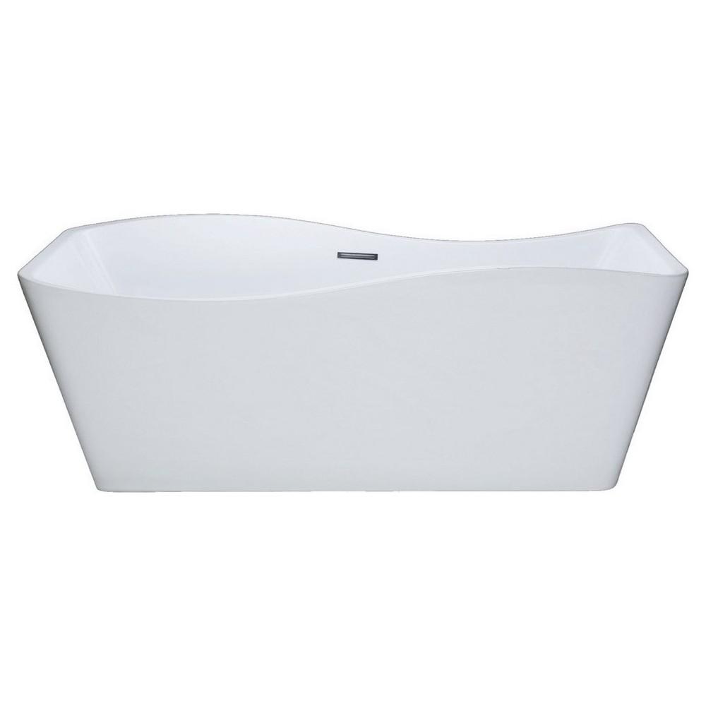 Kube Ondulato 67'' White Free Standing Bathtub