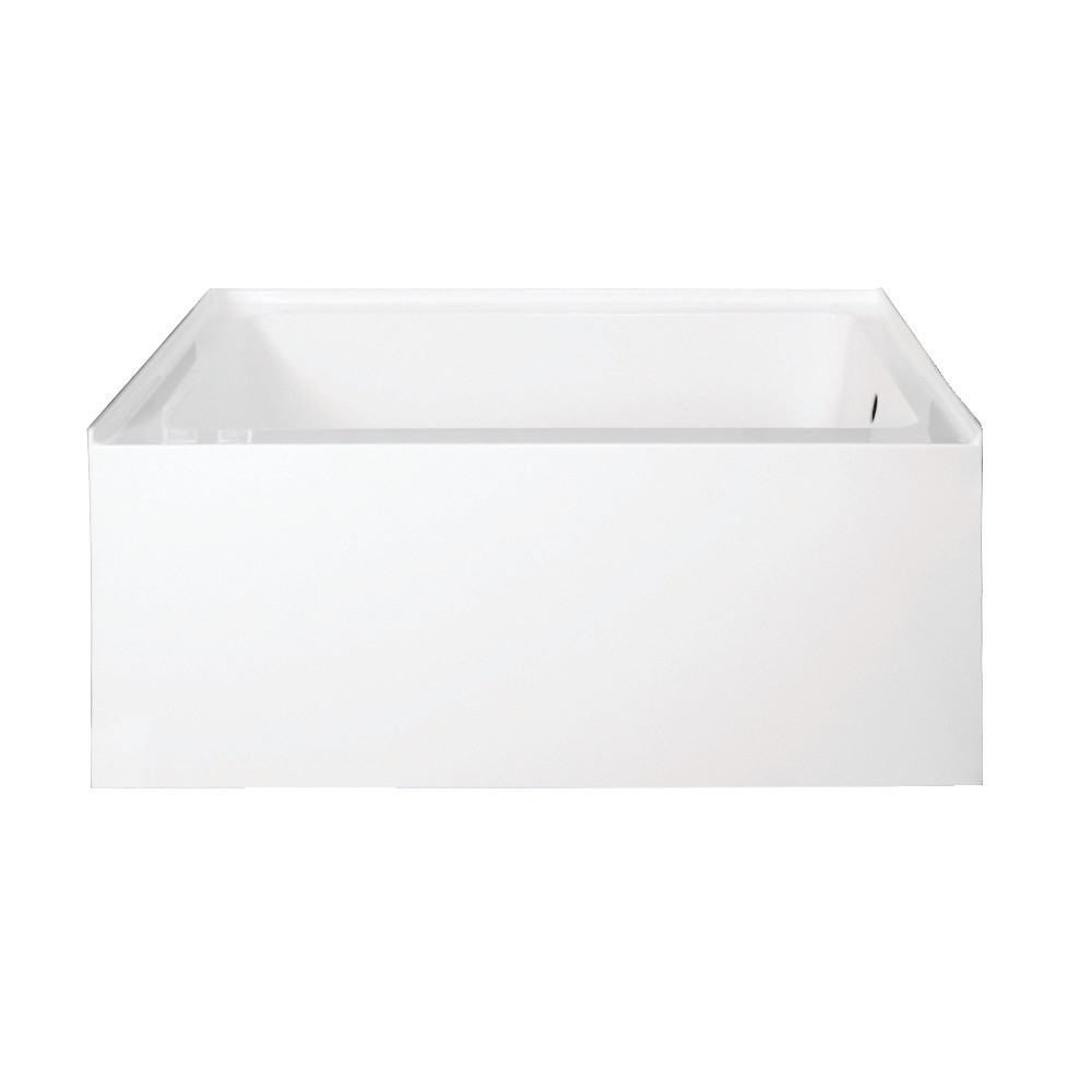 Aqua Eden  Ambry 48-Inch Acrylic Alcove Tub with Right Hand Drain Hole, White