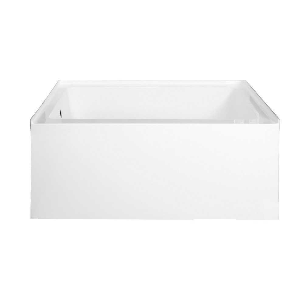 Aqua Eden  Ambry 48-Inch Acrylic Alcove Tub with Left Hand Drain Hole, White