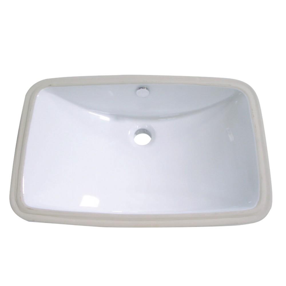 Fauceture  Forum Undermount Bathroom Sink, White