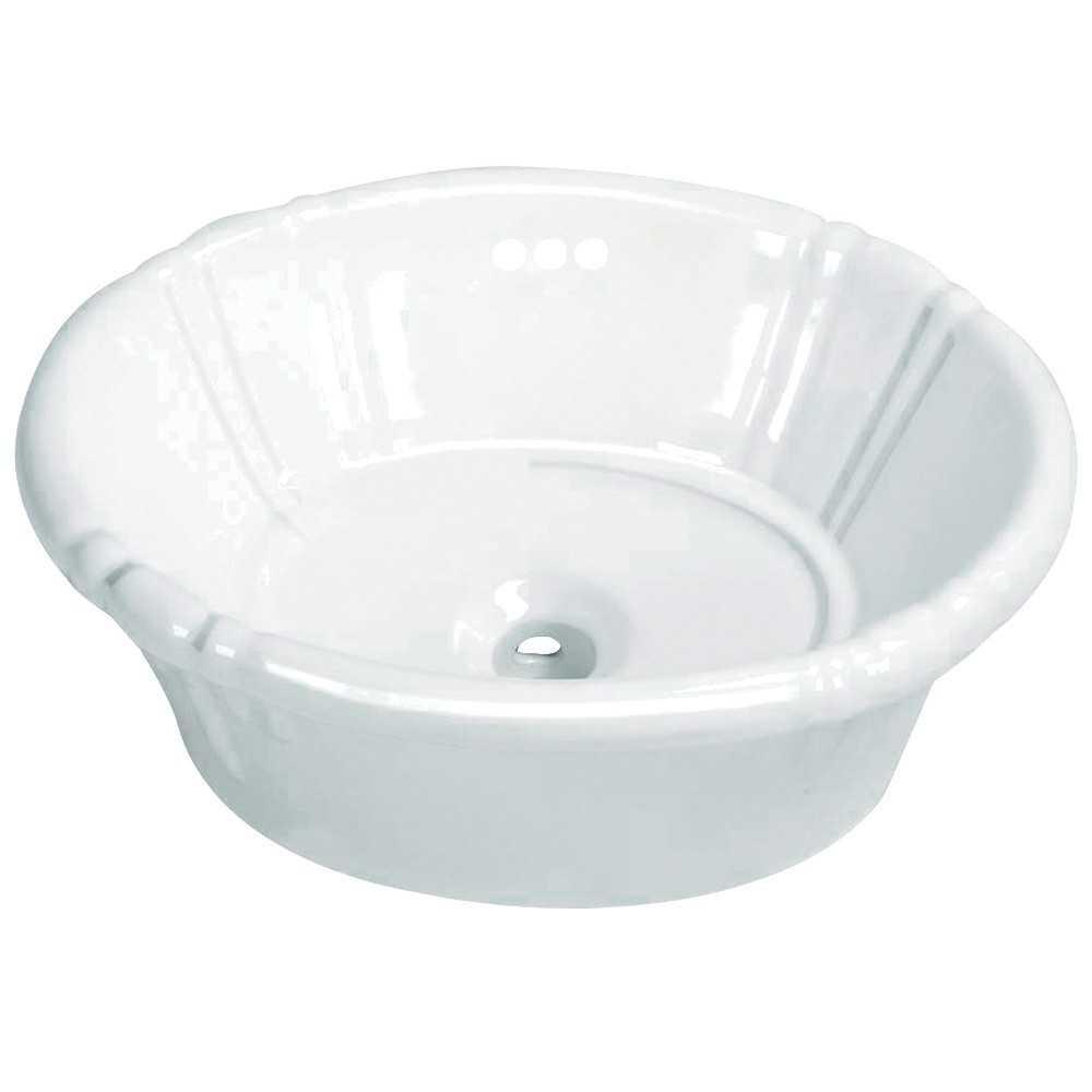 Fauceture  Vintage Vitreous China Single Bowl Vessel Sink, White