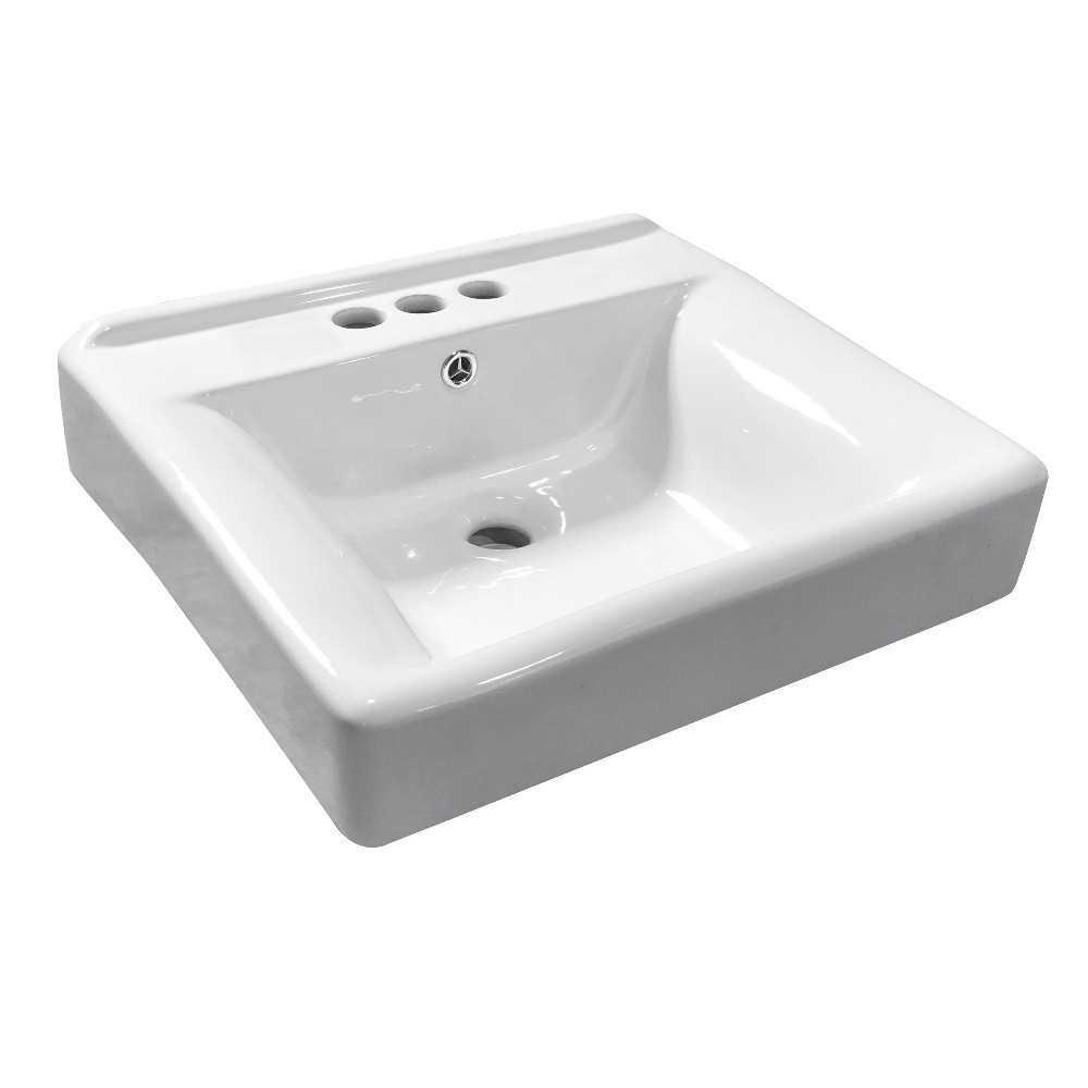 Fauceture  Concord Ceramic Recessed Drop-In Bathroom Sink, White