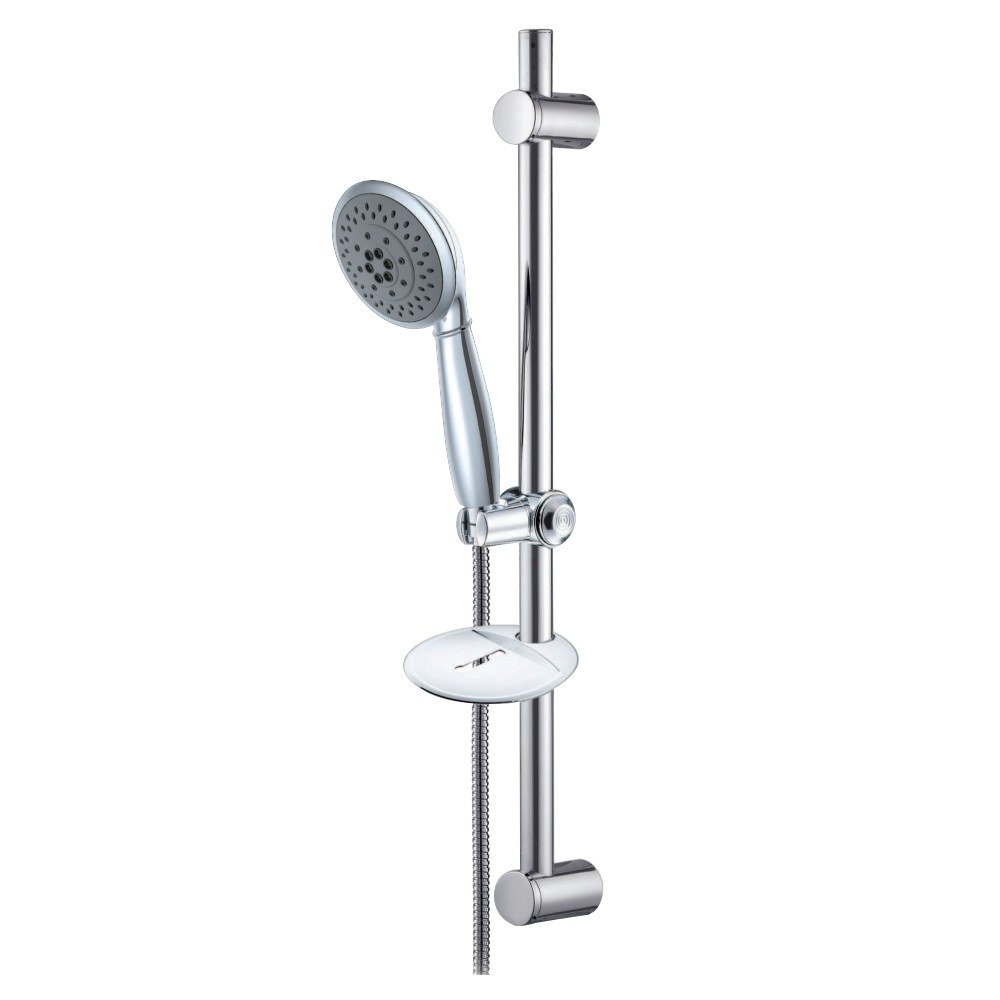 Kingston Brass  5 Setting Hand Shower with Hose and Slide Bar Kit, Polished Chrome