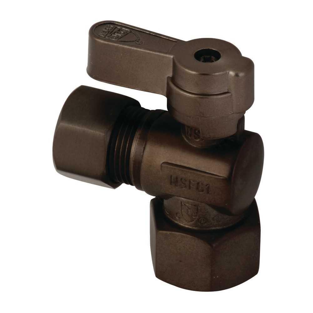 Kingston Brass  1/2 Fip X 1/2 OD Comp Angle Stop Valve, Oil Rubbed Bronze
