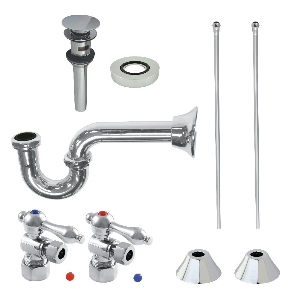 Kingston Brass  Traditional Plumbing Sink Trim Kit with P-Trap and Drain, Polished Chrome