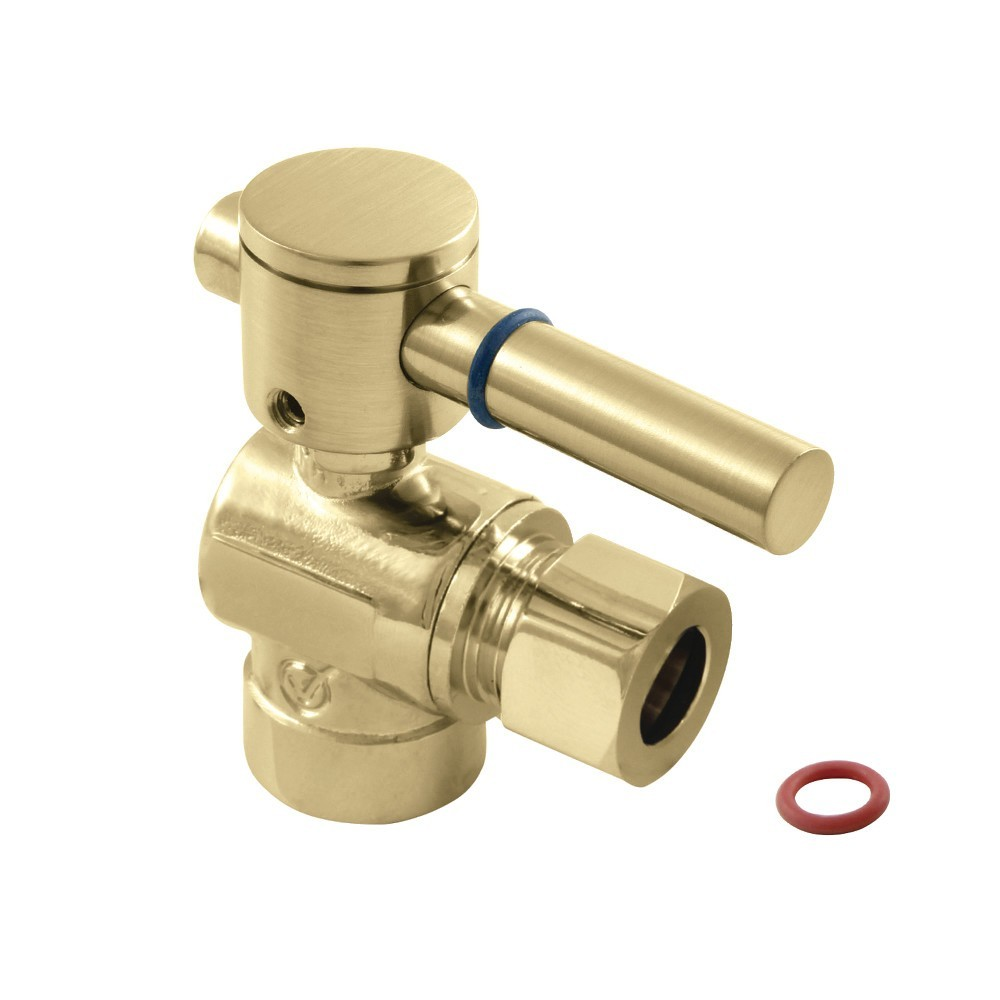 """Fauceture  1/2"""" Sweat, 3/8"""" O.D. Compression Angle Valve, Polished Brass"""