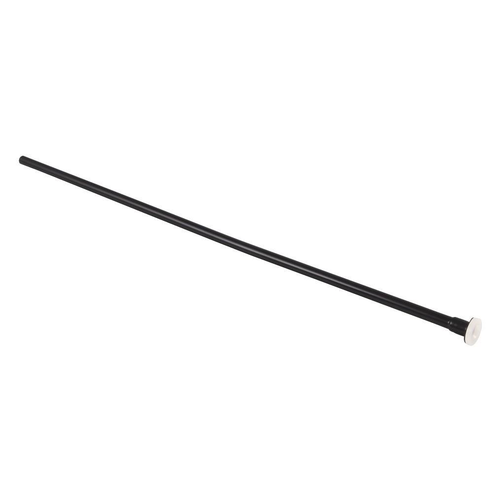 Showerscape  Complement 20-Inch X 3/8-Inch Diameter Flat Closet Supply, Matte Black