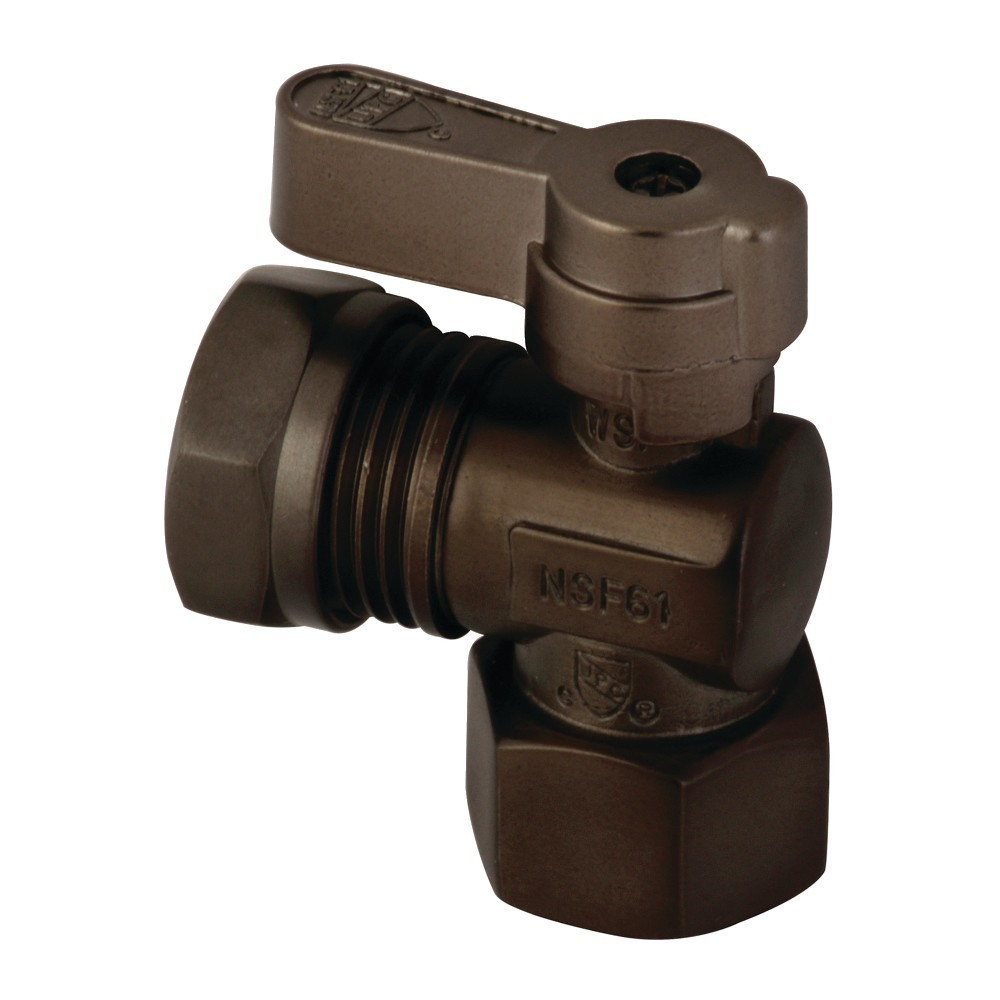 Kingston Brass  1/2 Fip X 1/2 and 7/16 OD Slip Joint Angle Stop Valve, Oil Rubbed Bronze