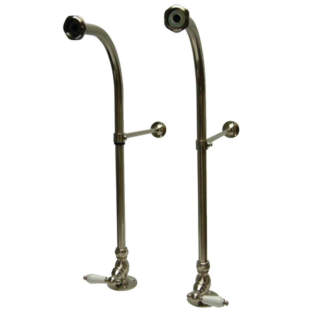 Kingston Brass  Rigid Freestand Supplies with Stops, Brushed Nickel