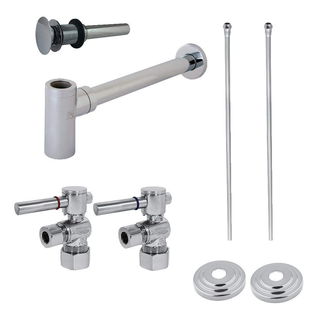 Kingston Brass  Vessel Sink Plumbing Supply Kit with P-Trap and Drain, Polished Chrome