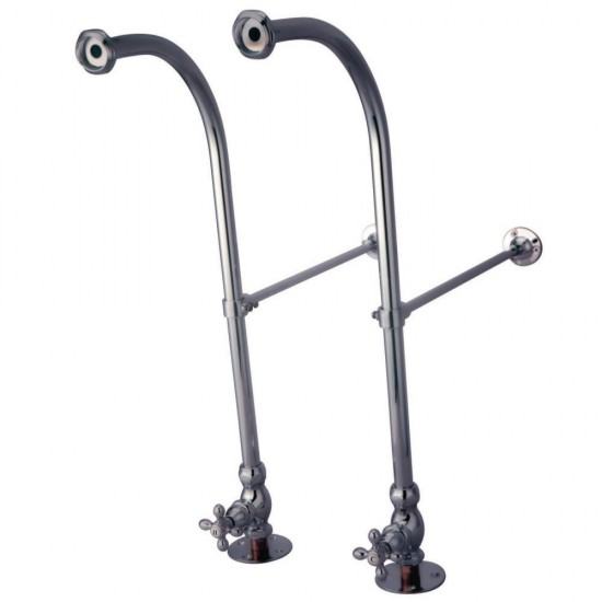 Kingston Brass  Rigid Freestand Supplies with Stops, Polished Chrome