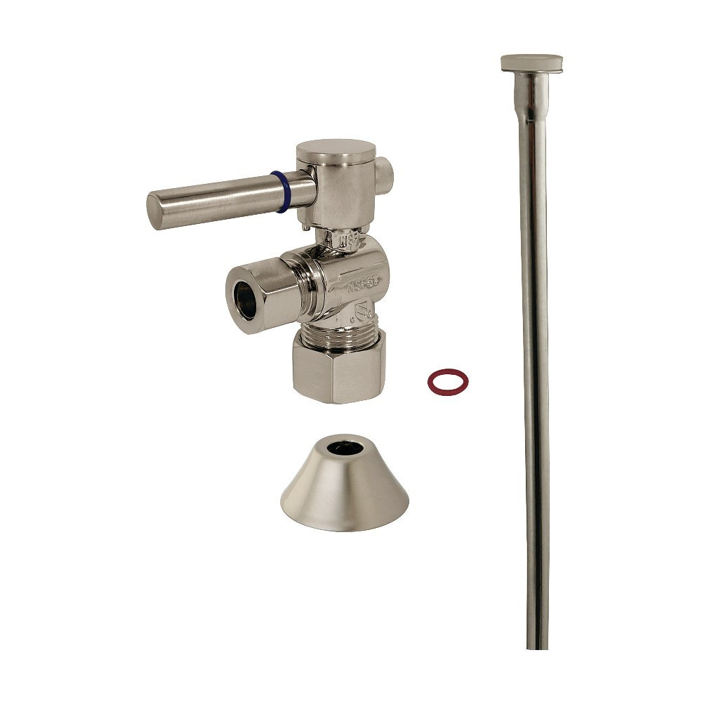 Kingston Brass  Modern Plumbing Toilet Trim Kit, Brushed Nickel