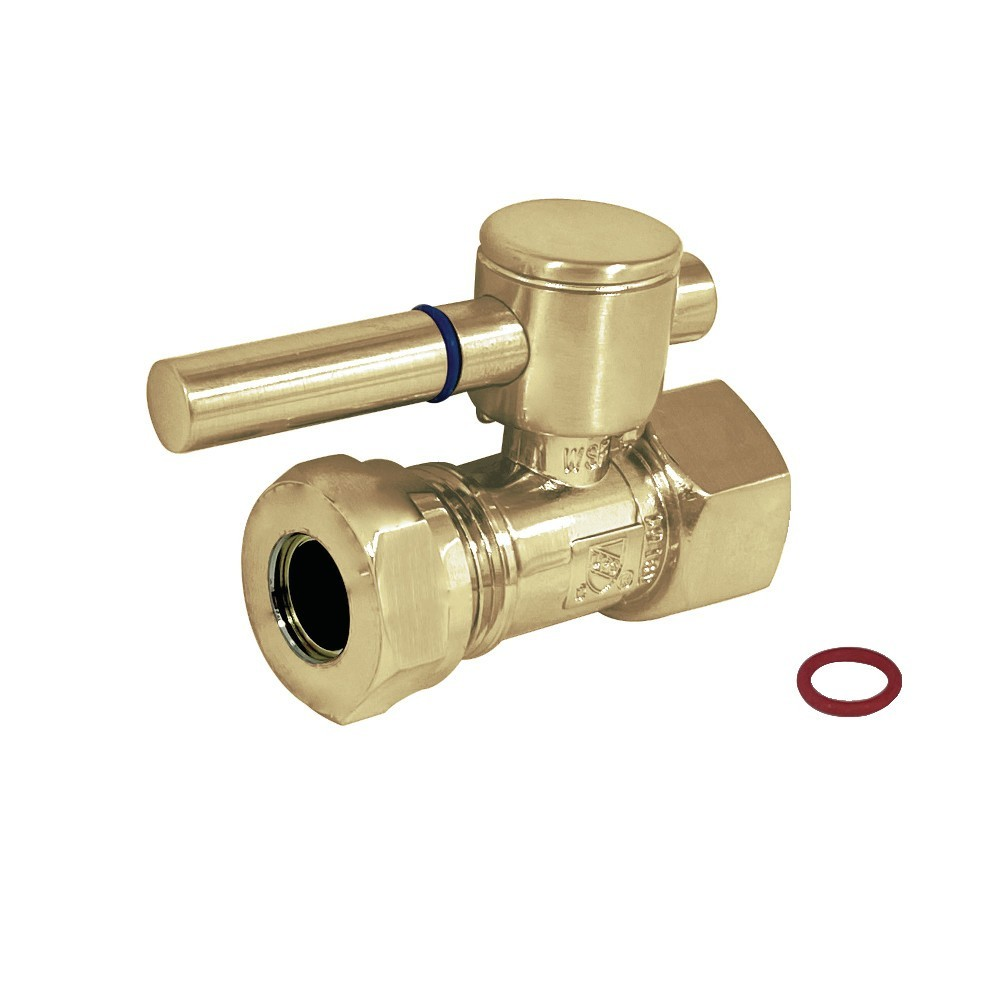 """Fauceture  1/2"""" IPS, 1/2"""" or 7/16"""" Slip Joint Straight Valve, Polished Brass"""