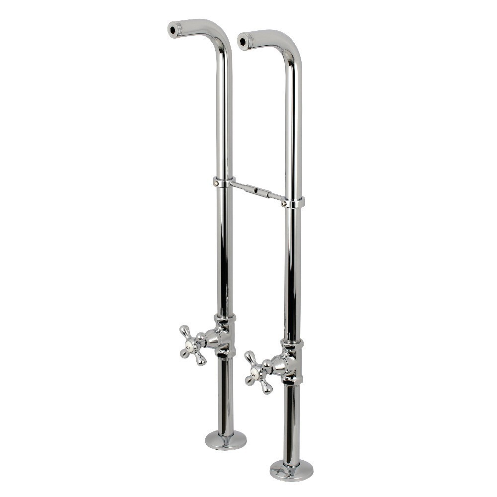 Kingston Brass  Freestanding Supply Line Package, Polished Chrome