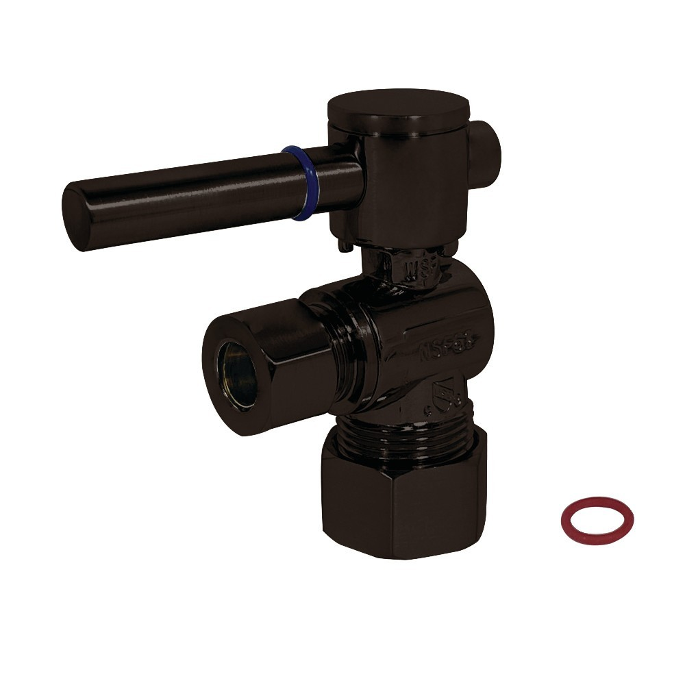 Fauceture  Quarter Turn Valves (5/8-Inch X 3/8-Inch OD Compression), Oil Rubbed Bronze