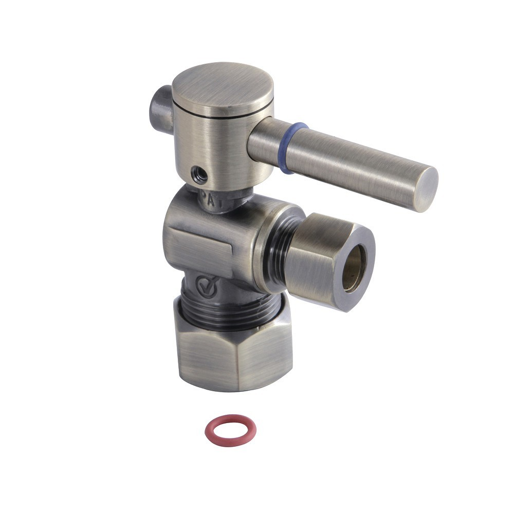 Fauceture  Quarter Turn Valves (5/8-In X 3/8-In OD Comp), Antique Brass