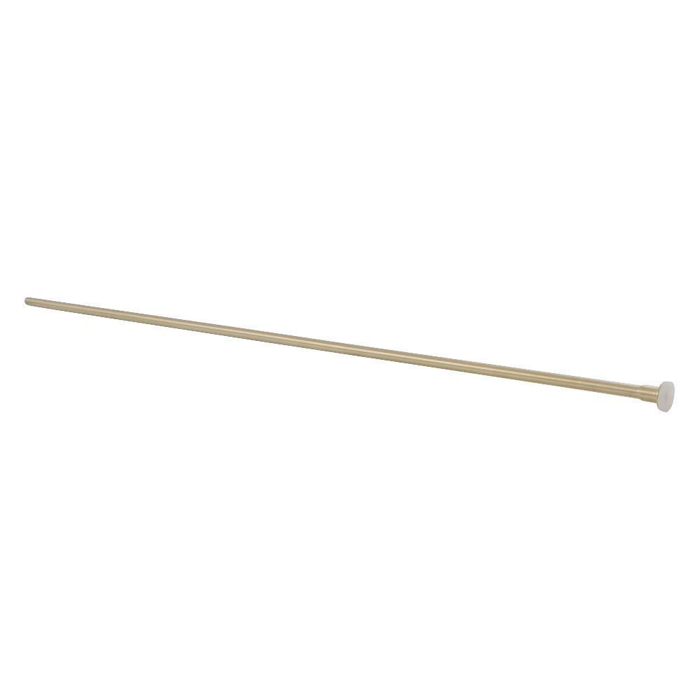 Showerscape  Complement 30-Inch X 3/8-Inch Diameter Flat Closet Supply, Brushed Brass