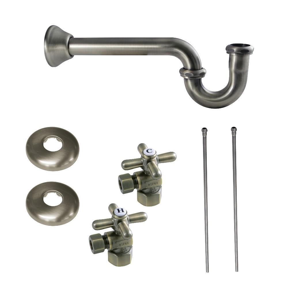 Kingston Brass  Trimscape Plumbing Supply Kit Combo, Antique Brass