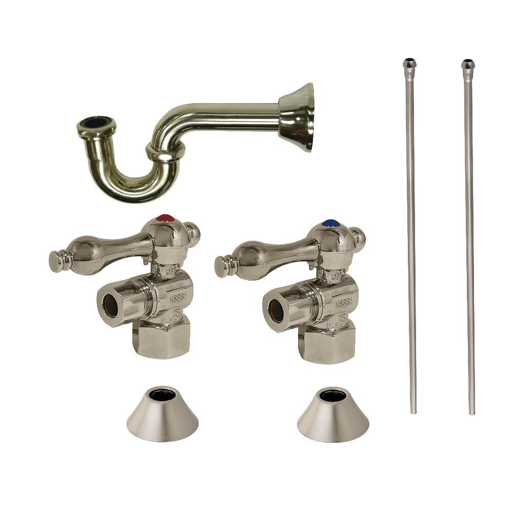 Kingston Brass  Traditional Plumbing Sink Trim Kit with P-Trap, Brushed Nickel