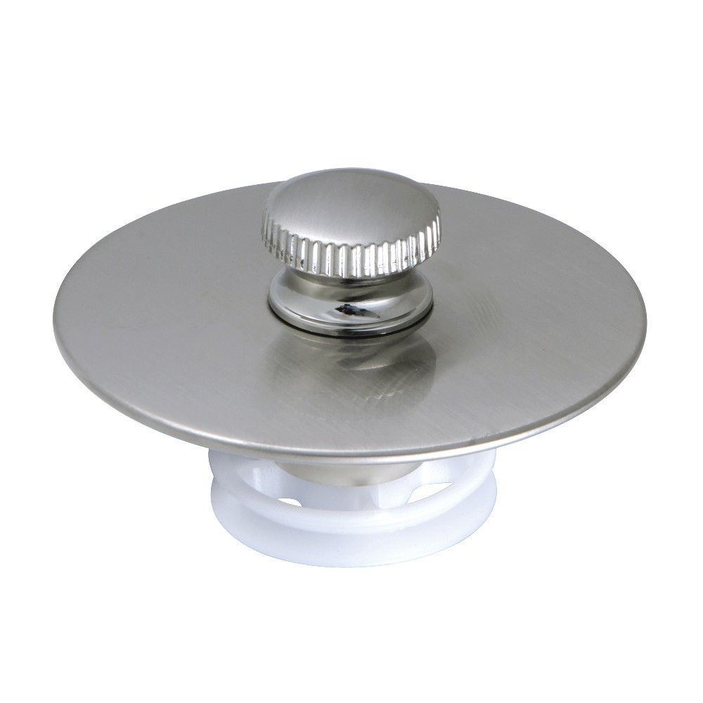 Kingston Brass  Quick Cover-Up Tub Stopper, Brushed Nickel
