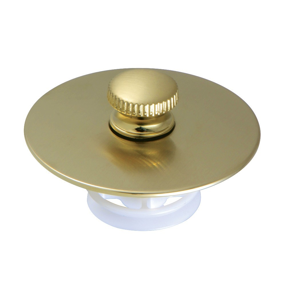 Kingston Brass  Quick Cover-Up Tub Stopper, Brushed Brass