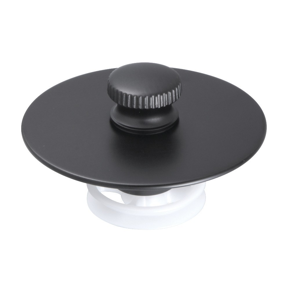 Kingston Brass  Quick Cover-Up Tub Stopper, Oil Rubbed Bronze