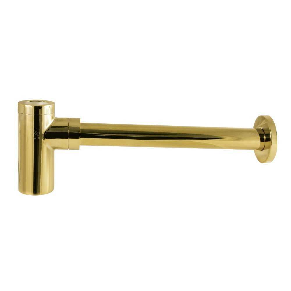 Kingston Brass  Trimscape 1-1/4 Inch OD Brass Round Siphon Bottle Trap, Polished Brass