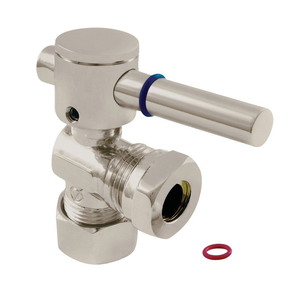 """Fauceture  5/8"""" O.D. Compression, 1/2"""" or 7/16"""""""" Slip Joint Angle Valve, Brushed Nickel"""