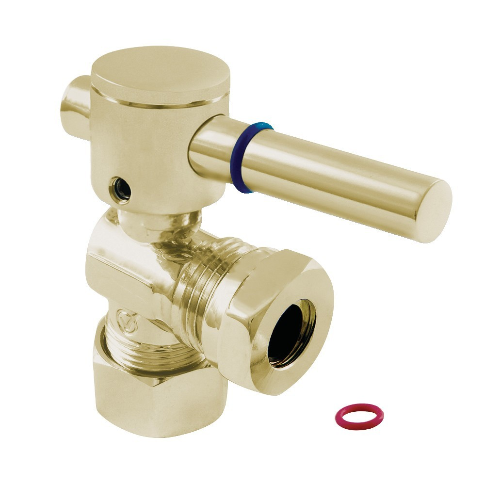 """Fauceture  5/8"""" O.D. Compression, 1/2"""" or 7/16"""""""" Slip Joint Angle Valve, Polished Brass"""