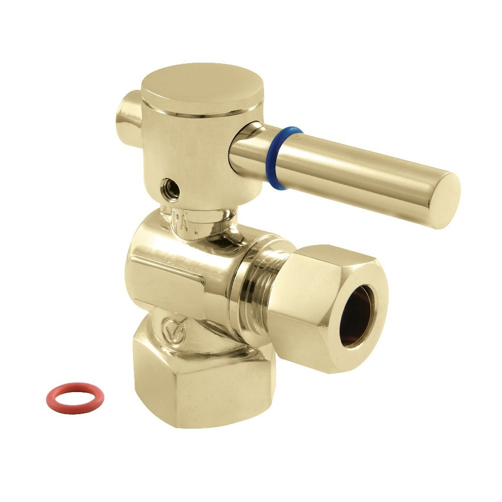 """Fauceture  1/2"""" IPS, 1/2"""" O.D. Compression Angle Valve, Polished Brass"""