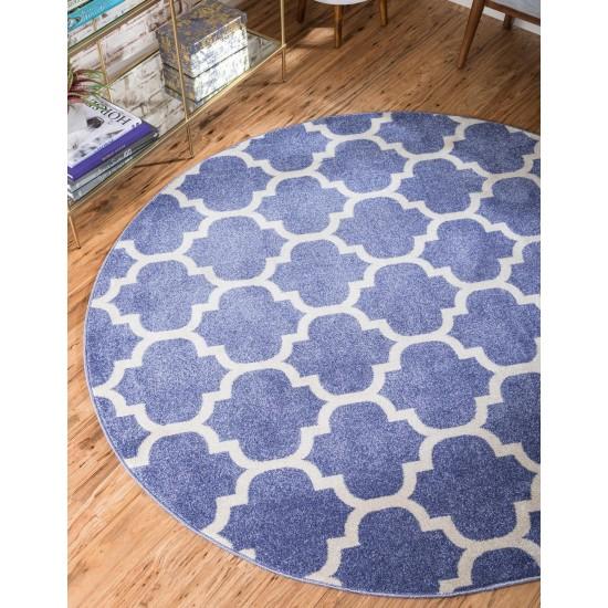 Rug Unique Loom Trellis Blue Round 3' 3 x 3' 3