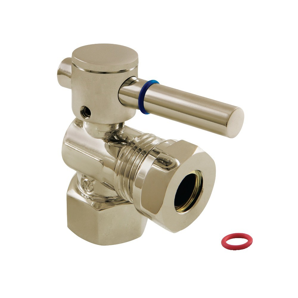 """Fauceture  1/2"""" IPS, 1/2"""" or 7/16"""" Slip Joint Angle Valve, Brushed Nickel"""