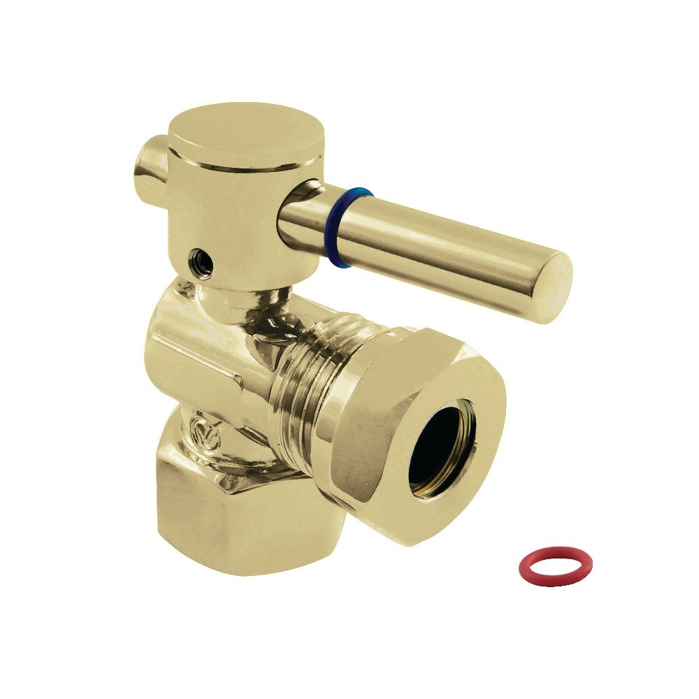 """Fauceture  1/2"""" IPS, 1/2"""" or 7/16"""" Slip Joint Angle Valve, Polished Brass"""