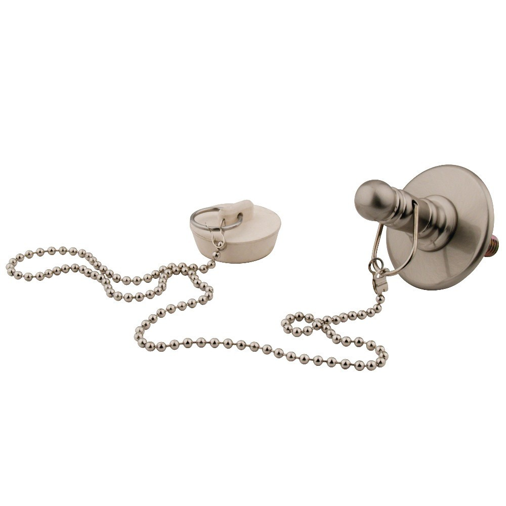 Kingston Brass  Rubber Stopper Chain and Attachment for CC1008, Brushed Nickel